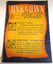Unknown Worlds – UK Pulp – Winter 1946 – Vol.3 No.8 - L. Sprague de Camp