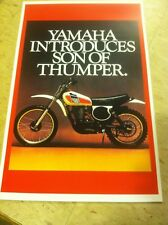 Vintage Yamaha TT500 Motorcycle Poster Home Decor Man Art Christmas Present