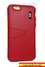 Funda Apple Iphone 6 / 6S protectora / bumper con soporte roja rojo