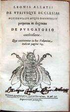 1655 – LEONE ALLACCI, IN DOGMATE DE PURGATORIO CONSENSIONE – CHIESA CATTOLICA