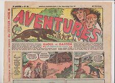 AVENTURES 1ère année 1936. n°38 - 22 décembre 1936.