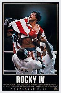 Rocky IV Vintage Retro Movie Poster A0-A1-A2-A3-A4-A5-A6-MAXI 323