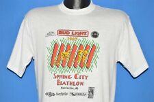 vtg 80s Bud Light Spring City Biathlon 1987 Huntsville Alabama t-shirt Medium M