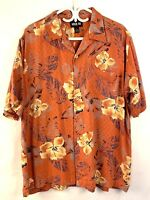Mens Hawaiian Style Shirt Bright L Keeler Bay Orange
