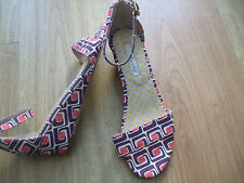 BODEN STUNNING SUMMER PRINTED ANKLE STRAP WEDGE SANDALS   SIZE 36==3  BNWOB