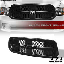 For 2013-2017 Dodge Ram 1500 Glossy Black Oe Honeycomb Mesh Front Bumper Grille