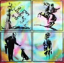 banksy PARIS TABLEAU pop street art graffiti PyB french painting canvas signed