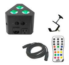 Chauvet DJ Wedge Tri Color LED Triangular Truss Accent Light Dmx Cable & Clamp