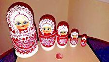 Traditional Matryoshka Babushka Russian Nesting Wooden Dolls Set 5pc Big Size
