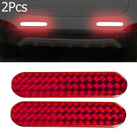 Red Alarm Decal Warning Tape Car Reflective Strips Door Sticker Safety Mark