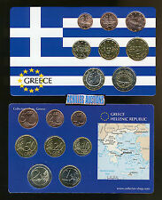 Greece. Greek Euro Coins UNC Year: 2007 Compl. set of 8 values (1 c. to 2 euros)