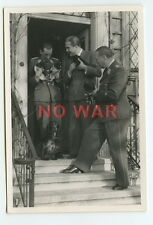 WWII PHOTOS LUFTWAFFE Generalmajor Albrecht Massow w OFFICER & DOG W PUPPY