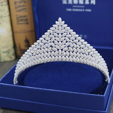 Superb CZ Cubic Zirconia Adult Wedding Bridal Party Pageant Prom Tiara Crown