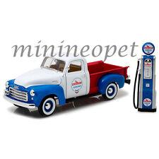 GREENLIGHT 12992 1950 GMC 150 PICK UP TRUCK 1/18 CHEVRON with VINTAGE GAS PUMP