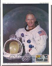 #C76, First Day Cover no address, Apollo 11 1969 Moon Landing, NASA photograph