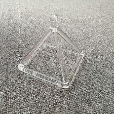 """Optically Clear Quartz Crystal Singing Pyramid 4"""" Crystal Singing Bowl"""