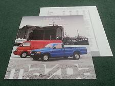 May 1988 MAZDA B2000 B2200 PICKUP + E2000 E2200 VAN UK BROCHURE + SPECIFICATION
