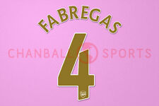 Fabregas #4 2007-2008 Arsenal UEFA Champions League Homekit Nameset Printing