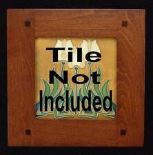 6x6 Arts & Crafts Morris Cherry Motawi Tile Frame, Ravenstone, Medicine Bluff