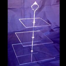 Three Tier Square Cake Stand - Clear