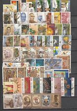 India 2000 Complete Year Used Set of 67 Stamps (without Shukla)