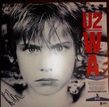 Adam Clayton U2 Autographed Signed War Vinyl PROOF Beckett Authenticated