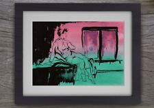 Girl, Inside'' Limited Edition Hand Painted Watercolour and Ink Print - A4