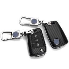 Carbon Fiber Car Key Cover for VW VOLKSWAGEN Golf 7 GTI Flip Key Protector