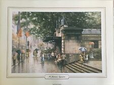 New Ramon Ward Thompson Artist Painting Print - St James Square