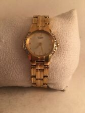 Citizen Quartz Ladies Crystal Gold Tone Dress Watch EX1162-63P-H11