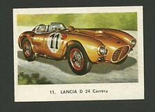 Lancia D24 Carrera Racecar Vintage Car Collector Trading Card from Spain