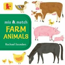 Mix and Match: Farm Animals by Rachael Saunders 9781406381290 | Brand New