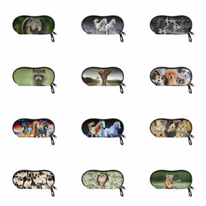 Animals Design Storage Soft Bag for Glasses Eyeglass Pouch Light Case with Clip