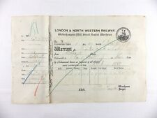 More details for antique 1879 wolverhampton warehouse/lnwr railway receipt~laing brothers whisky
