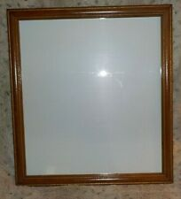 """Wood frame, 16"""" x 18"""", embossed rails w/gold accents, regular clear glass"""