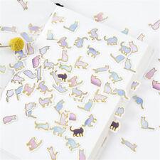 100PCS Cute animal cat Mini Paper Stickers DIY Diary Album Stick Decor Lot  Z