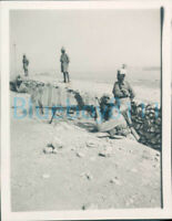WW2 1941 15th Punjab Regiment Bren gunners in trench East Camp Quetta India
