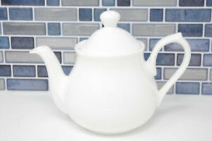 4 Cup Teapot White Bone China Tea Pot Classic Style Pure White 71031