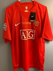 NEW 2008 Manchester United UCL Final Jersey #7 CR7 Cristiano Ronaldo (Large)