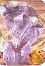 Baby Children Knitting Pattern JUMPERS Cardigans Copy  8 Ply