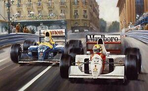 Monaco Grand Prix F1 PICTURE PRINT CANVAS WALL ART FRAMED 20X30INCH