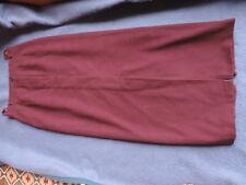 Rock lang, Farbe bordeaux, Gr. 36, Marke Hirsch, Schlitze vorne und hinten