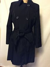 Calvin Klein Womens Double Breasted Trench Jacket XS  Black NWT