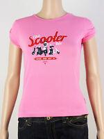 NEW Lambretta womens Size 10 12 14 small stretch fit pink t shirt