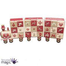 Heaven Sends Holz Adventskalender Zug Weihnachten Traditionell Dekoration