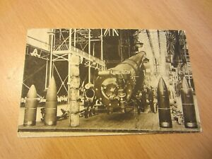 "WW1 Vintage 1920s (?) Imperial War Museum Postcard Replica 18"" Naval Gun"