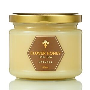 Clover RAW Honey 100% NATURAL PURE sweetener unprocessed 400g Unpasteurized