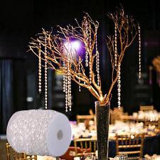30M Garland Diamond Strand Acrylic Crystal Bead Curtain Wedding DIY Party Decor
