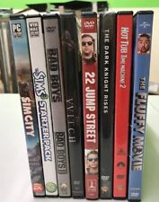 Movie And PC Game Lot (Bad Boys, Sims, Dark Knight, 22 Jumpstreet, Fluffy Movie)