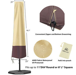 NEW Patio Outdoor Umbrella Covers Market Parasol Covers w/ Zipper-Free Shipping